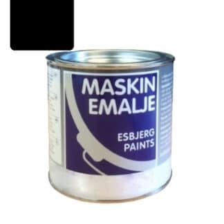 Esbjerg maskinmaling sort mat RAL 9005 79126