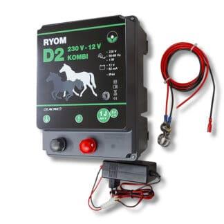 Ryom elhegn, strømgiver batteri, 230 volt