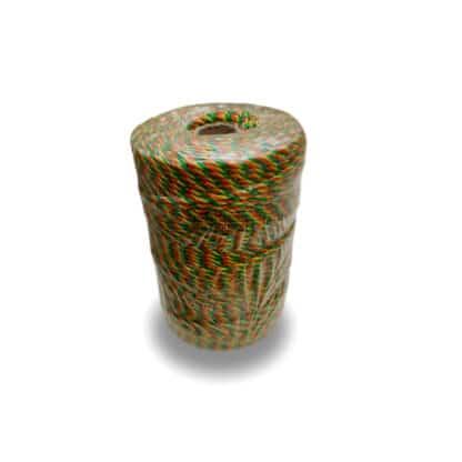 Poly hegnstråd, polytråd 3 farvet orange, gul og hvid